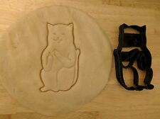 Cat giving the finger cookie cutter - 1pc - 3d printed (PLA) - MADE IN USA!!!