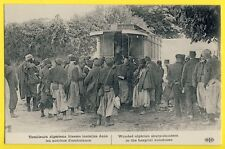 cpa Guerre 14 WW1  ALGERIANS SHARPSHOOTERS wounded installed in BUSES AMBULANCE