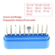SALE! 1 Kit Dental Diamond Burs Front Teeth Set 10pcs/Kit FG-101 Blue  AZDENT