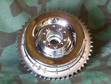 KNUCKLEHEAD, PANHEAD, B. T. FLATHEAD CHROME REAR BRAKE DRUM.