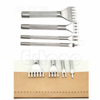 1/2/4/6 Prong Stainless Steel Leather Craft Hole Punches Flat Chisel Stitching