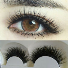 5 PAIRS NEW NATURAL LONG BLACK EYE LASHES HANDMADE THICK FAKE FALSE EYELASHES