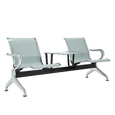 Heavy Duty Barber Airport Office Reception Waiting Bench Room Chair with table