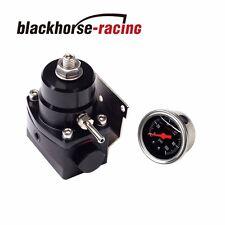 Adjustable Fuel Pressure Regulator+100psi Gauge Kit 6AN Fitting End Universal