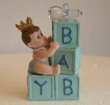 KING PRINCE CROWN BABY SHOWER BIRTHDAY CAKE TOPPER DECORATION FAVOR FIGURINE
