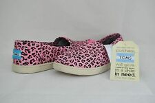TOMS Youth Classics Slip On Pink Leopard Sz 5 NEW