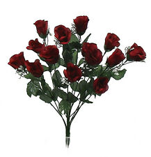 84 Long Stem Roses ~ BURGUNDY  WINE ~ Silk Wedding Flowers Centerpieces Bouquets