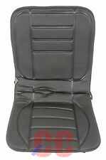 12 Volt Thermal Seat Cover Heated Pad Front Car Van Universal Fit Cushion Padded