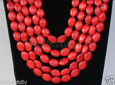 Red Turquoise bead necklace Wedding Woman Jewelry Christmas, Valentine's Day