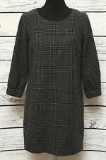 J.Crew Gray/Black Tunic Dress Scoop Neck Fall Winter Holiday Dress Sz6
