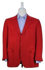 * GORDON YAO * Bespoke Bright Red Thick 100% Pure VICUNA Sportcoat Blazer 44R