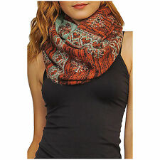 New Woman REVERSIBLE HEART AND SNOWFLAKE COZY INFINITY SCARF