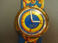 SWATCH MONTRE BRACELET POP BLEU FEMME PALACE DOORS PM0100 WOMAN WATCH 1994