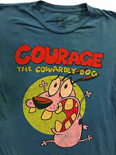 COURAGE THE COWARDLY DOG Cartoon Network T-Shirt Sz.S