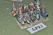 25mm medieval knights 10 cavalry (6821) metal painted