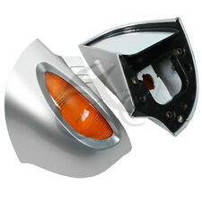 L & R Silver Rear View Mirrors Turn Signal For BMW R1100 RT R1100 RTP R1150 RT