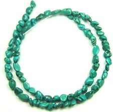 "16"" NATURAL Green Chinese Turquoise Nugget ~70 Beads 6mm K4960"