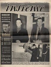 [SM1] INSIEME ANNO 1950 NUM. 20 DANNO LA CACCIA A SKORZENY LEBERATORE DI....