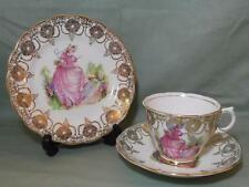 "Vintage Ashley ""Pinkie"" Bone China trío Taza De Té Platillo placa crinolina Dama (# B)"