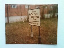 Vintage 80s Photo Of London Car Park Boscombe Down Bulford