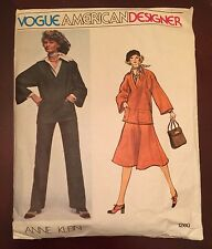 Vogue American Size 16 Anne Klein Pattern 1260 Top, Pants, Skirt, Shirt, Scarf
