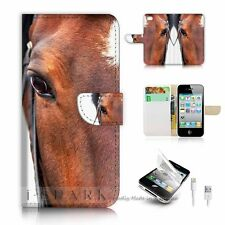 iPhone 5 5S Flip Wallet Case Cover! S8715 Horse