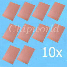 10pcs One-Side Copper Clad 50x70x1.5mm Single PCB Board Glass Fiber 5*7cm D