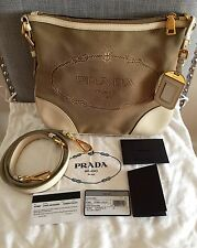 Authentic Prada Logo Jacquard Bandoliera