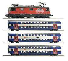 Roco H0 61443 Zugset Re 420 Sound + 3 Doppelstockwagen der SBB 1:87 - NEU + OVP