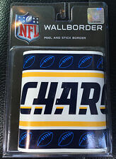 """NFL Football SD San Diego Chargers Peel & Stick Wall Paper Border Roll 5"""" x 15'"""