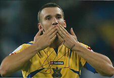 Andriy SHEVCHENKO Signed Autograph Photo AFTAL COA Euro 2012 Goal Celebration