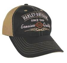 Harley-Davidson Genuine Harley Logo Mesh Back Black Baseball Cap BCD16212