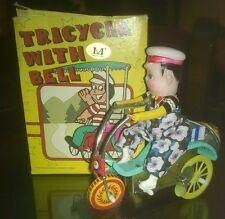 "Giocattoli/Modellismo/D'Epoca""TRICYCLE WITH BELL""Triciclo In Latta Con Campanell"