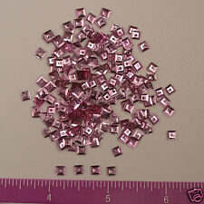 Vintage 1930's French Sequins Squares Metallic Pink 4mm