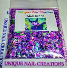 Limited Edition Glitter Mix~MALEFICENT* Comes W Alloy~ Nail Art