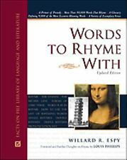 Words to Rhyme With: For Poets and Song Writers : Including a Primer o-ExLibrary