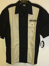 Men's Victory Motorcycle Camp Shirt In Black And Cream (Size S) NWT