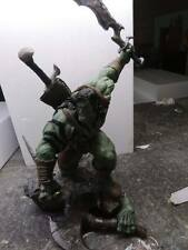 1/4 painted skkar, with axe and knife, hulk, statue, polystone