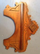 Ornate Eastlake Style Wood Top Trim From Parlor Or Gingerbread Clock Repurpose