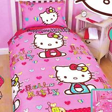 Hello Kitty - Folk - Single/US Twin Bed Quilt Doona Duvet Cover Set