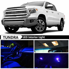 19x Premium Blue LED Lights Interior Package Kit for 2007-2016 Toyota Tundra
