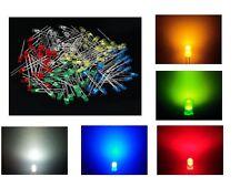 MIX 25 LED DIODI 3mm bianchi blu rossi verdi gialli luce diffusa arduino cs pc