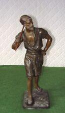 Antico Statua di Arabi Uomo Zinco IN PANI a freddo verniciato Signd Reclam intorno al 1920
