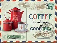 Coffee Beans Vintage Postcard, Kitchen Cafe Old Shop, Food Novelty Fridge Magnet