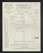 """PARIS (XV°) LABORATOIRE / SERVICE VACCINATION VETERINAIRE """"LABOPASTEUR"""" en 1904"""