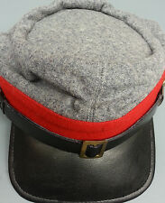 REPRODUCTION CIVIL WAR RED CONFEDERATE ARTILLERY  KEPI HAT LARGE