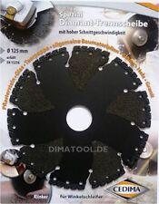 1x 125mm Cedima Universal Diamant Trennscheibe AR-Multicut für Winkelschleifer