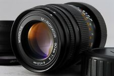Near Mint Minolta M-Rokkor 90mm f4 MF Lens for Leica CL CLE w/Hood & Filter#N318