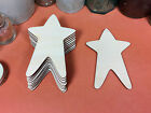 WOODEN PRIMITIVE STARS Shapes 10.2cm (x10) laser cut wood crafts blank shape