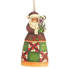 Jim Shore Heartwood Creek  SANTA With Cat Christmas  Hanging Ornament